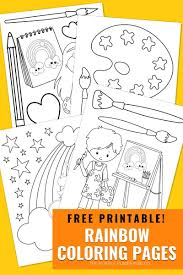 After the storm, every once in a while, you get a reward… Free Printable Rainbow Coloring Pages