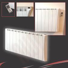 designer electric panel heater wall mounted convector white aluminium