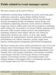 Event Manager Resume Samples Top 8 Event Manager Resume Samples