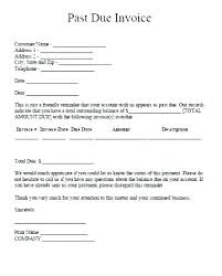 Past Due Letter Sample Invoice Template Past Due Bill