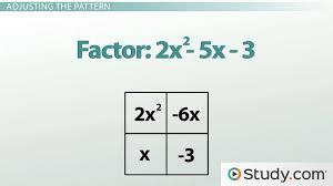factoring quadratic equations polynomial problems with a non 1 leading coefficient lesson transcript study com
