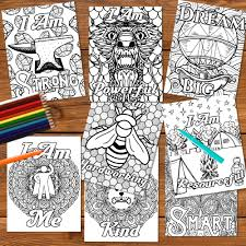 Setting the tone for learning. Growth Mindset Coloring Pages Positive Affirmation Printables Mymythos Kids Personal Mythology Growth Mindset Printables
