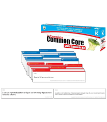 Common Core Math Standards Chart The Complete Common Core State Standards Kit Pocket Chart Cards Kindergarten