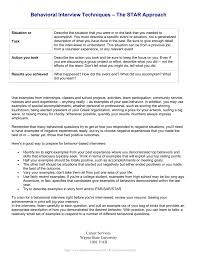Star Approach Interview Behavioral Interview Techniques The Star