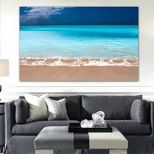 caribbean home decor home decor landscape beach picture modern simple blue sea sky canvas wall art