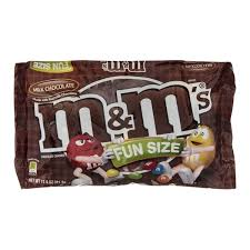 m m s m m milk chocolate cans fun size