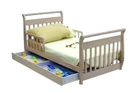 dream on me sleigh toddler bed white with storage pine wood baby