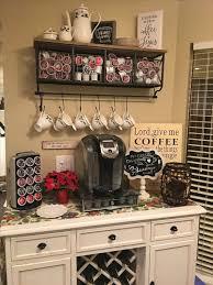 coffee bar. Kitchen Coffee Bar Station Ideas