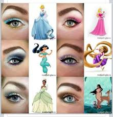 eye makeup i dont know whos idea this was but its great disney princess inspired eye makeup ten diffe ways of eye makeup
