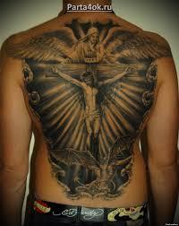 наколки на спине кресты православные кресты Tattoohacom кресты