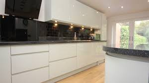 white contemporary kitchen with granite worktops worcester diamond kitchens driotwich