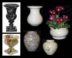 Decorative Urns Vases Simple Large Marble Vases Black Stone Planters Decorative Stone Planter Urns