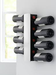 steelfunction wine and dine wall winerack for  bottles silver