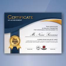 Achievement Certificate Certificate Of Achievement Template Vector Free Download