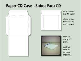 Cd Paper Case Paper Cd Case Sobre Para Cd By Juliannb4 On Deviantart