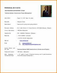 biodata and resume bio data resume under fontanacountryinn com