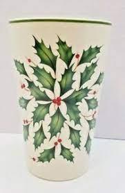 4.3 out of 5 stars 18. Lenox Holiday Holly Thermal Travel Coffee Mug No Lid 5 25 Ebay