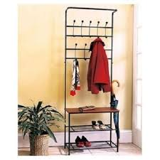 Coat Rack With Storage Space Rack Coat Hat Shoe Hall Tree Bench Entryway Entrance Foyer Mudroom 2