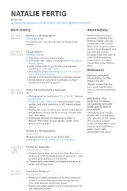 sample photography resumes 49 great freelance photographer resume examples