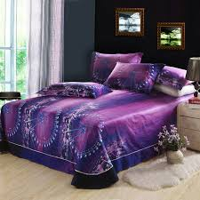 3d ferris wheel night city skyline purple bedding set queen duvet cover bed sheet pillowcase 100 cotton bedroom textiles 4pcs in bedding sets from home