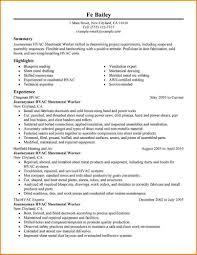 9 Hvac Resume Examples Skills Based Resume