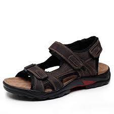 Nerefy Breathable Men Sandals Genuine Leather <b>Summer</b> Beach ...