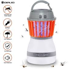 Bug Free Camping Lights Us 5 6 42 Off Zapper Waterproof 2 In 1 Mosquito Killer Lantern Light Outdoor Camping Lamp With Solar Powered Panel Garden Party Night Light In