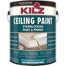 white ceiling paintKILZ Stainblocking Interior Ceiling Paint and Primer in One Flat