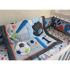 new f c l bedding sets 6 pieces baby boy sport crib