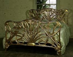 gilt art nouveau bed seen in