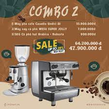 combo 2: máy pha cà phê Casadio Undici A1+ Máy xay cà phê WESU SUPER JOLLY  +5KG Cà phê hạt Arabica + Robusta tại Đà Nẵng