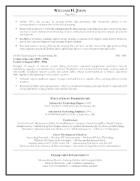 Information Technology Resume Template Director Of Information