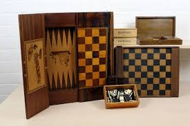 Old Wooden Game Boards Antique wooden game boards chess backgammon checkers domino 59