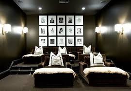dark media room. It Is Really Speaking To Me With Those Dark Cozy Walls And The Beautiful White Fluffy Pillows Throws. Media Room L