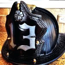 custom fire helmets helmet shields leather fronts