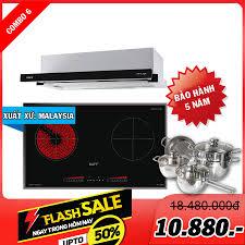 Combo 6: Bếp điện từ KAFF KF-FL366IC và Máy hút mùi KAFF KF-TL70H