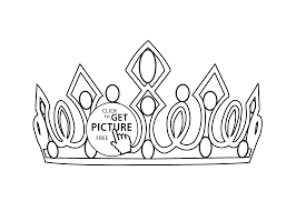 Small Picture crown coloring page for girls printable free