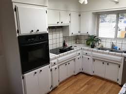 Painting Oak Kitchen Cabinets White Enchanting Kitchen Cabinets Painted White Two Coats Semigloss Enamel Yelp