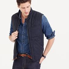 J.Crew - Sussex quilted vest, navy, men's, $138 | Dress to Impress ... & Quilted men's vest j crew Adamdwight.com