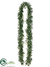 artificial boxwood garland boxwood garland green two tone pack of 6 fake boxwood garland