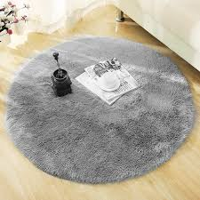 fluffy round rug carpets for living room decor faux fur carpet kids room long plush rugs for bedroom gy area rug modern mat d19011201 frieze carpeting