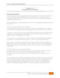 Sample Construction Contract Templates Free Example Variations Pdf