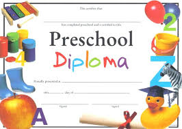 Preschool Diploma Certificate Templates Printable Template Word C
