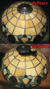 ed glass lamp shade repair pendant lighting le glass