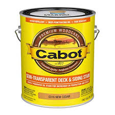 Cabot Semi Transparent Stain Color Chart Cabot 140 0000316 007 Semi Transparent Deck Siding Stain Gallon New Cedar