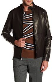 image of perry ellis faux leather jacket