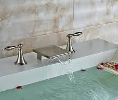 bathtub waterfall faucet features waterfall bathtub faucet oil rubbed bronze
