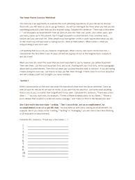 seven stories exercise worksheet psychology