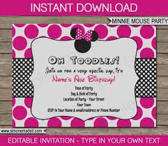 Free Templates For Invitations Birthday Amazing Of Minnie Mouse Party Invitation Template Free Printable 63