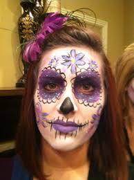 sugar skull makeup purple sugar skull makeup by rachel s face painting in ky dayofthedeadfacepainting prettysugarskull sugarskull